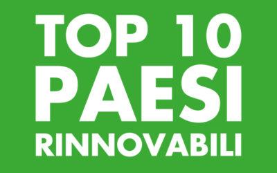 I 10 Paesi che corrono più veloci verso le rinnovabili